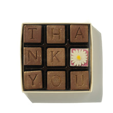 Load image into Gallery viewer, nine thank you chocolates in a box