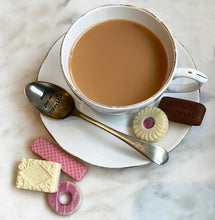 Load image into Gallery viewer, selection of mini chocolate biscuits and a cup of tea