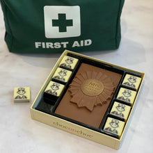 Load image into Gallery viewer, NHS staff are amazing chocolate box with green first aid kit