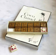 Load image into Gallery viewer, You got this chocolate message on a book