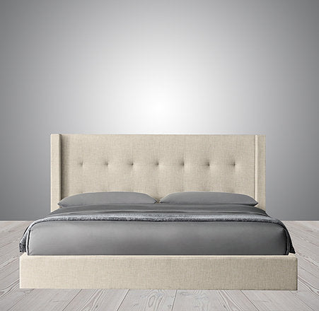 Monaco Shelter - Box Tufted Fabric Bed