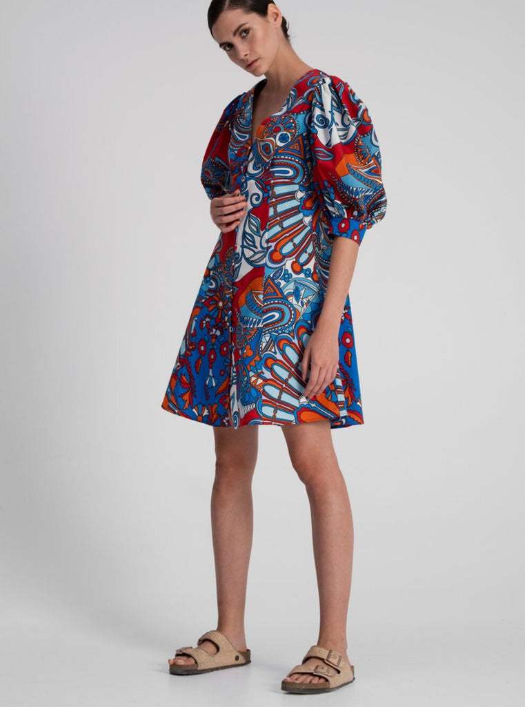 Mini Dress in Multi Print