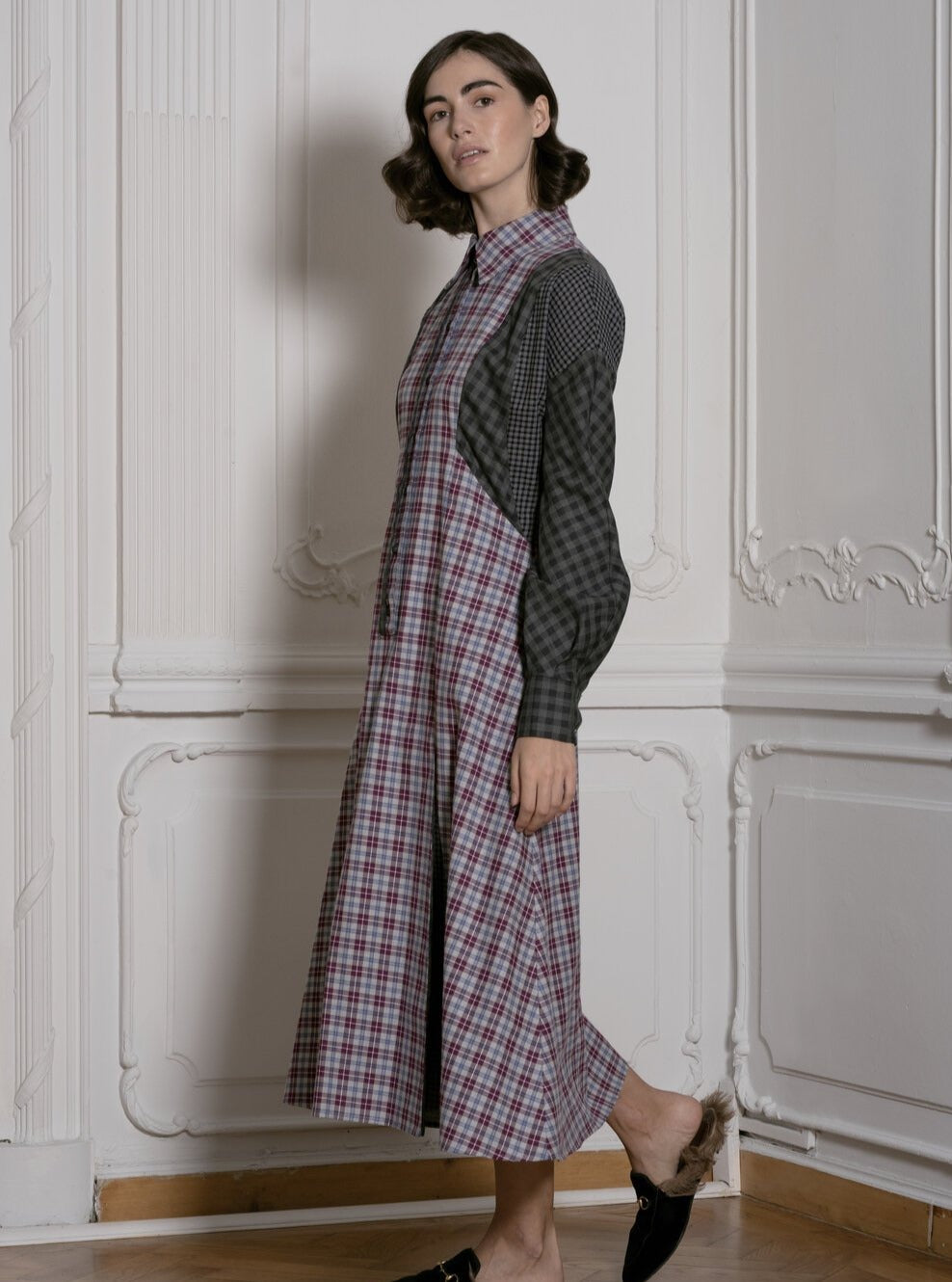 Honesty in Plaid (Aubergine and Grey)