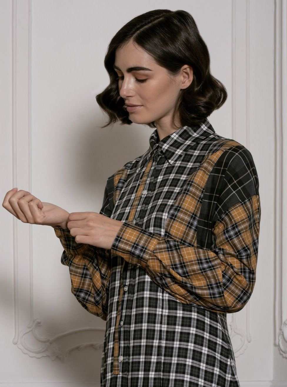 Honesty in Plaid (Black, White and Mustard)