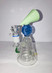 "7.5"" Custom Art Glass Water Pipe Bong Banger Rig Percolator"