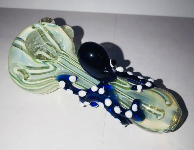 "5.5"" Glass Bowl Hand Pipe - Octopus - Animal Glass"