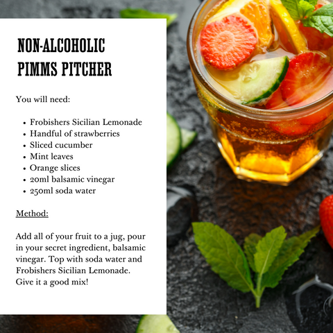 Alcohol Free Drinks - Summer Mocktail Recipe - Pimms - Frobishers