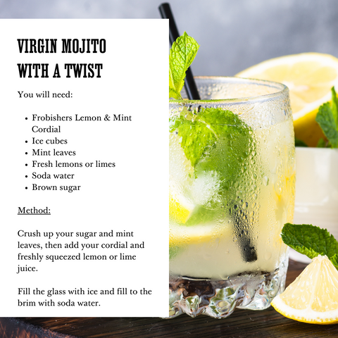 Alcohol Free Drinks - Summer Mocktail Recipe - Virgin Mojito - Frobishers