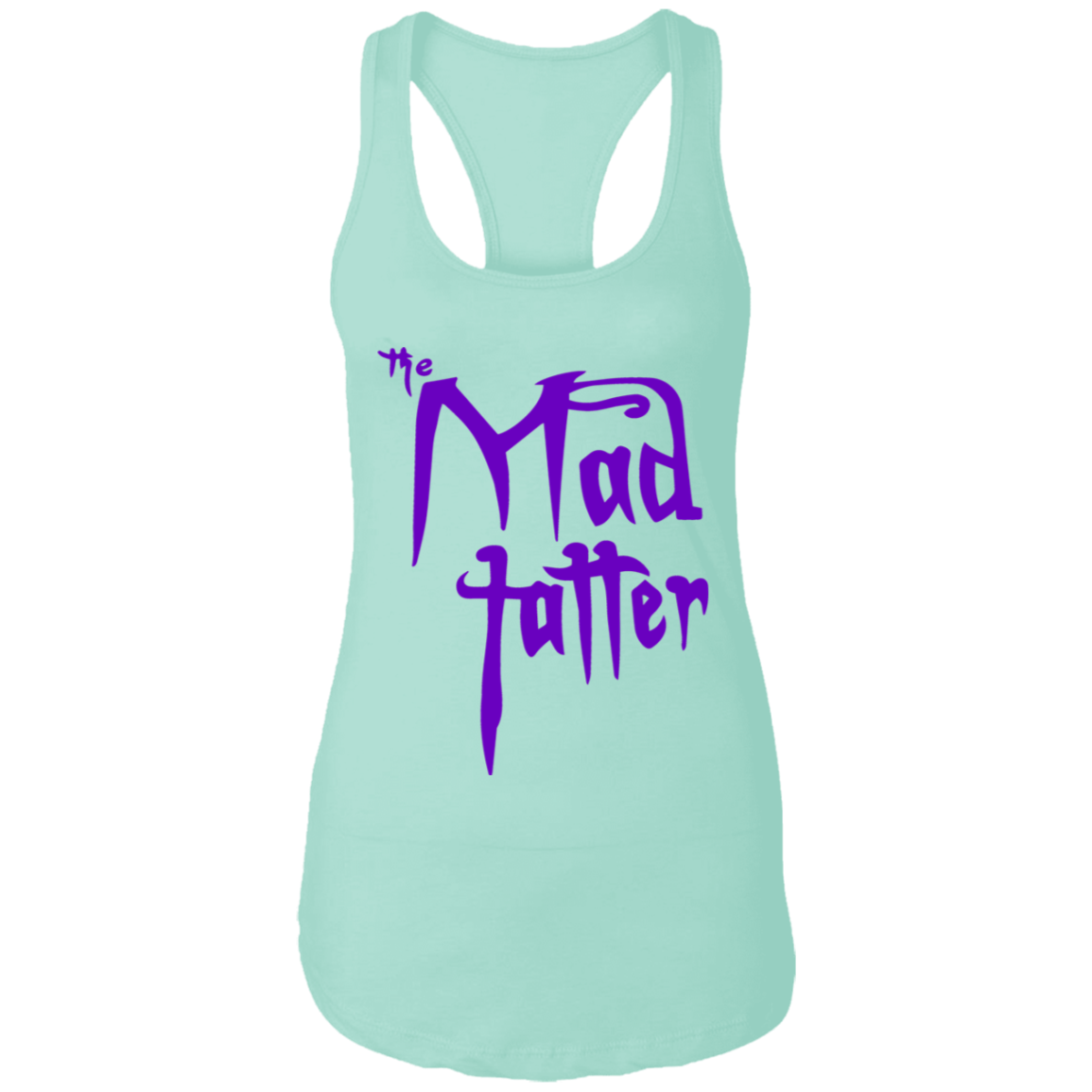 Ladies Mad Tatter Racerback Tank - Purple Logo