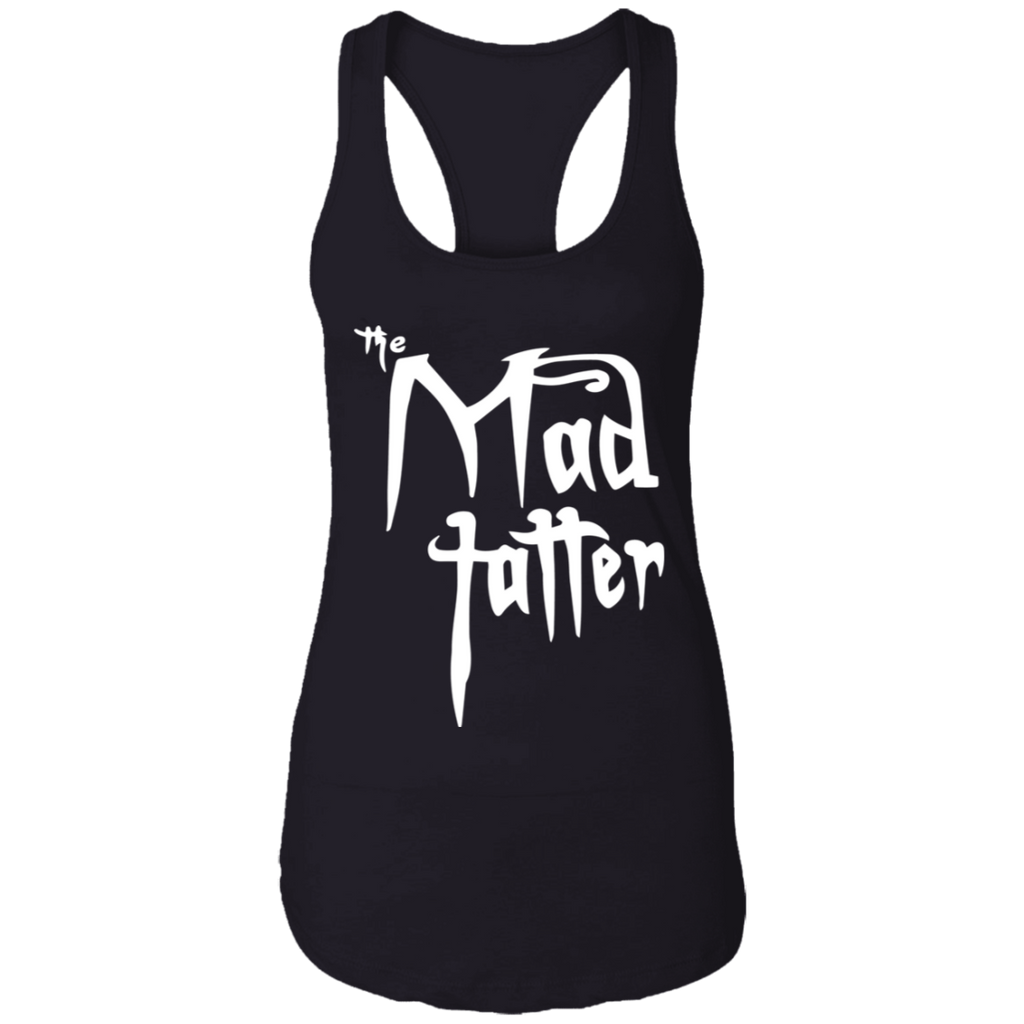 Ladies Mad Tatter Racerback Tank - Fuck It, White Logo
