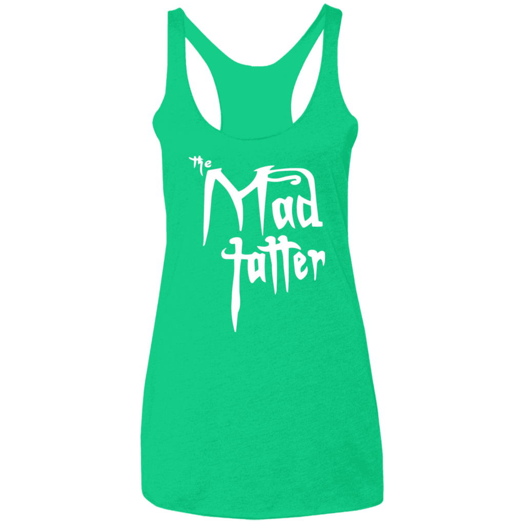 Ladies' Mad Tatter Triblend Racerback Tank - Fuck It, White Logo