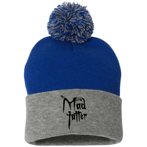 Pom Pom Knit Cap Mad Tatter Logo