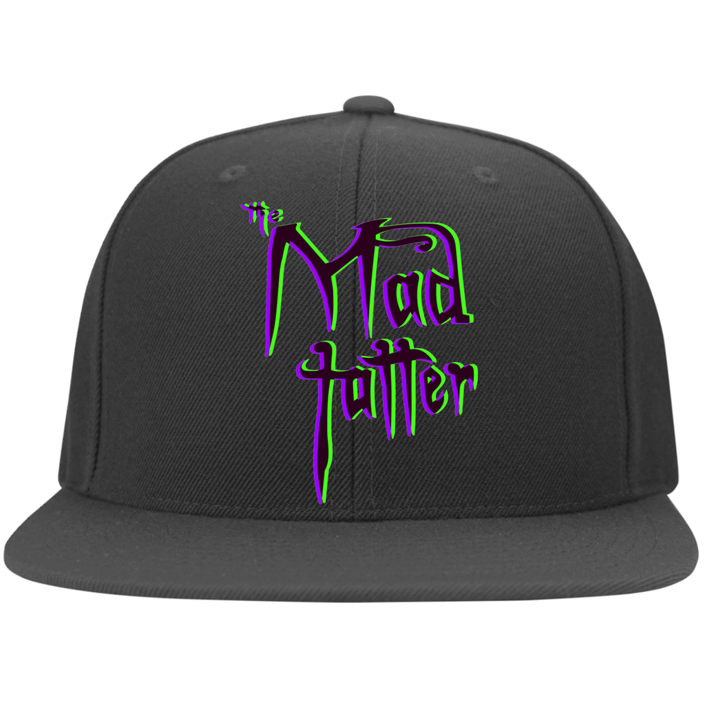 Mad Tatter 3D Logo Flat Bill Twill Flexfit Cap - Purple/Green