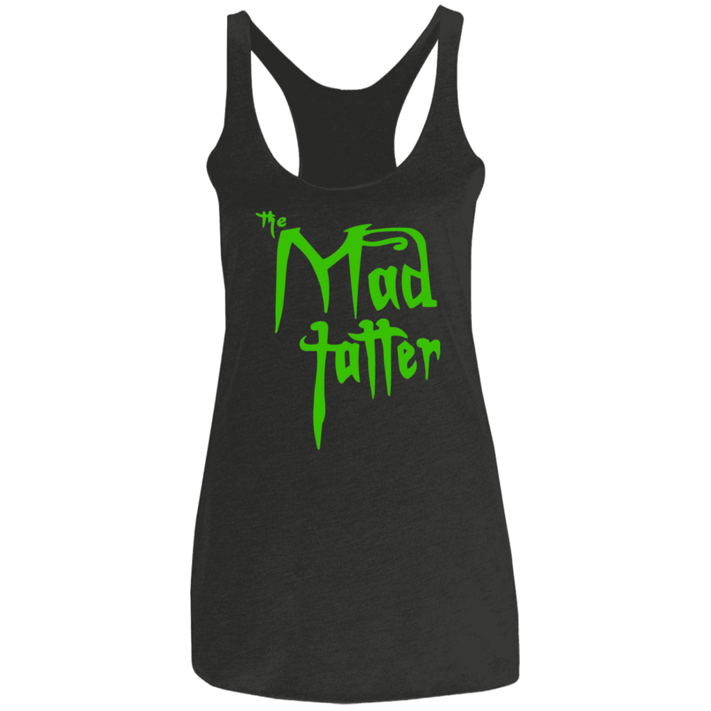 Ladies' Mad Tatter Triblend Racerback Tank - Green Logo