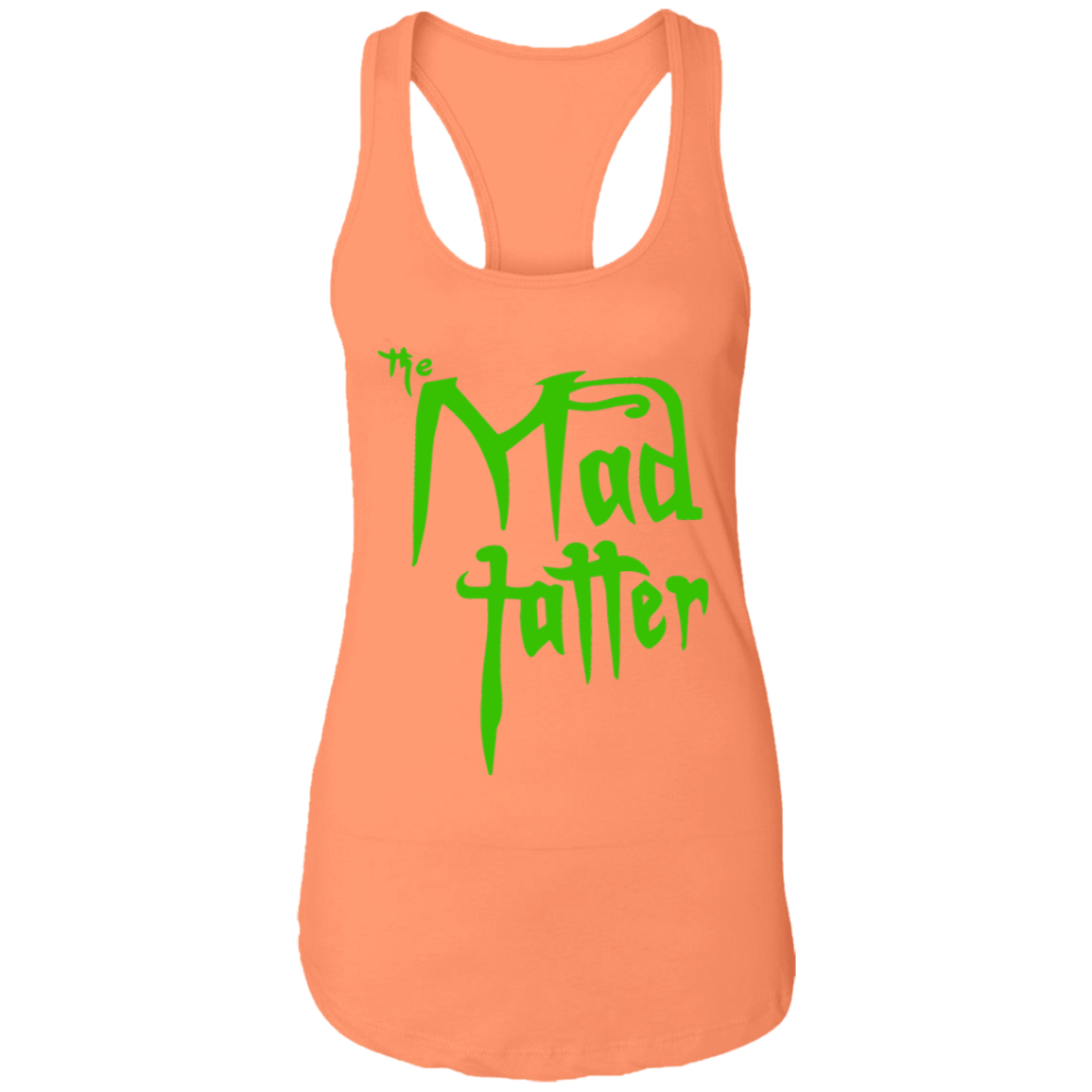 Ladies Mad Tatter Racerback Tank - Green Logo