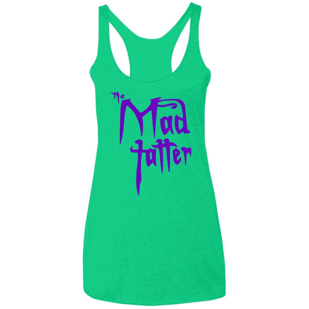 Ladies' Mad Tatter Triblend Racerback Tank - Purple Logo