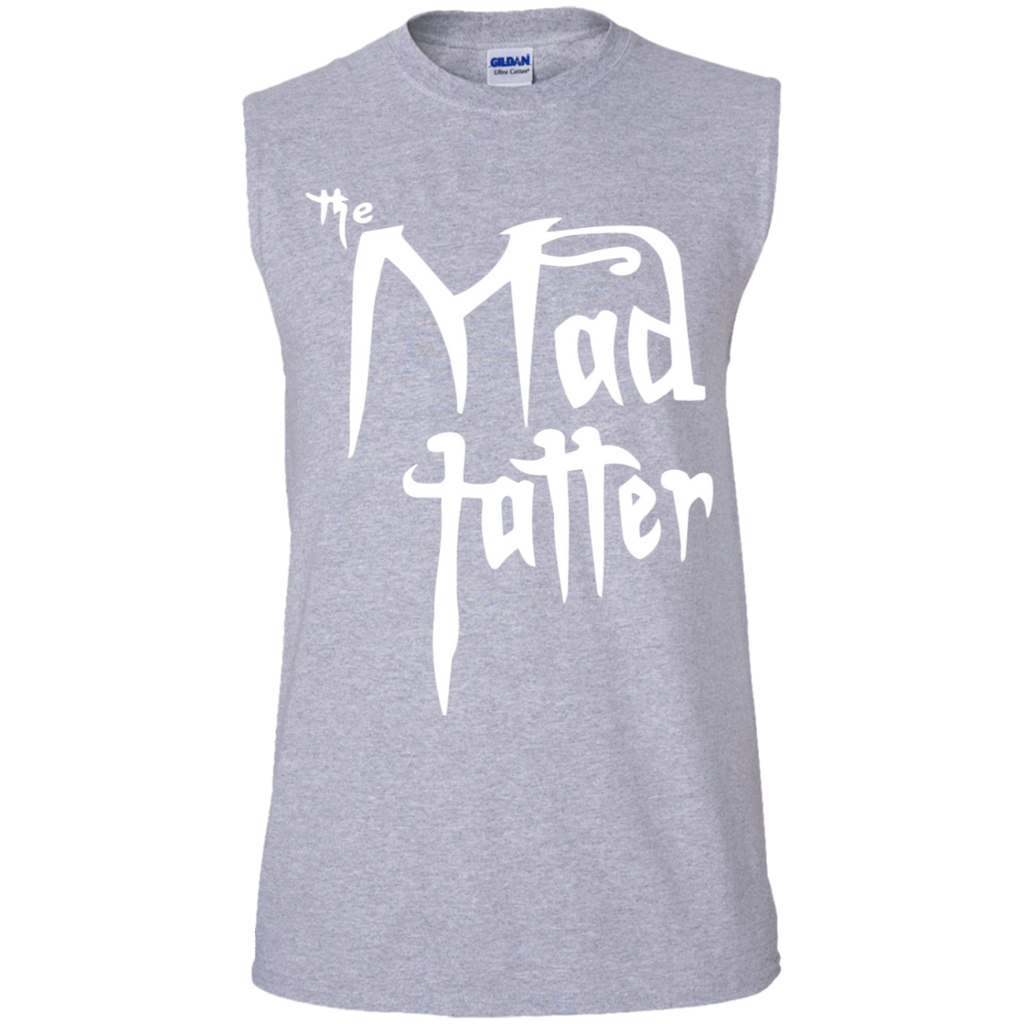 Men's Mad Tatter Sleeveless T-Shirt - Fuck It, White Logo
