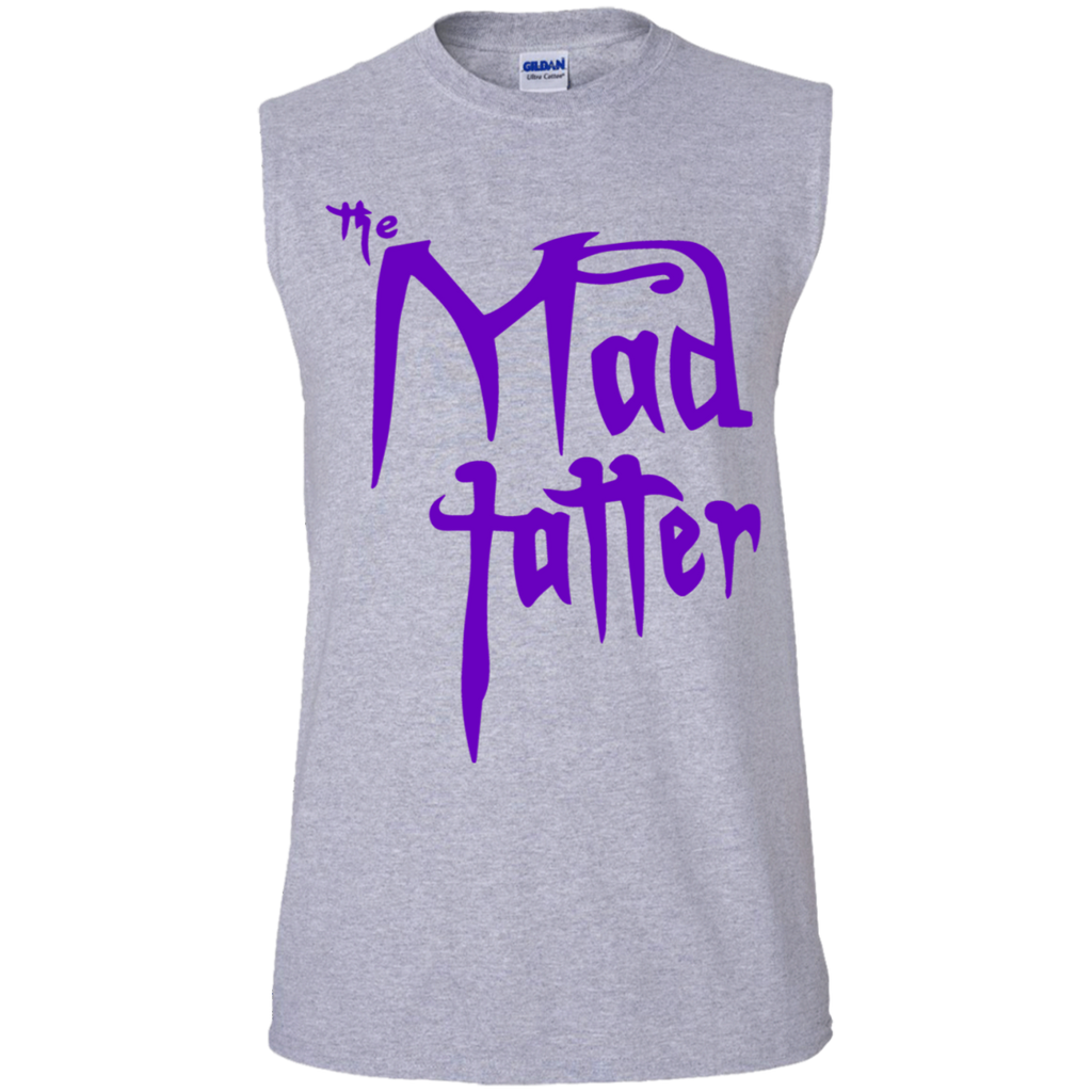 Men's Mad Tatter Sleeveless T-Shirt - Purple Logo