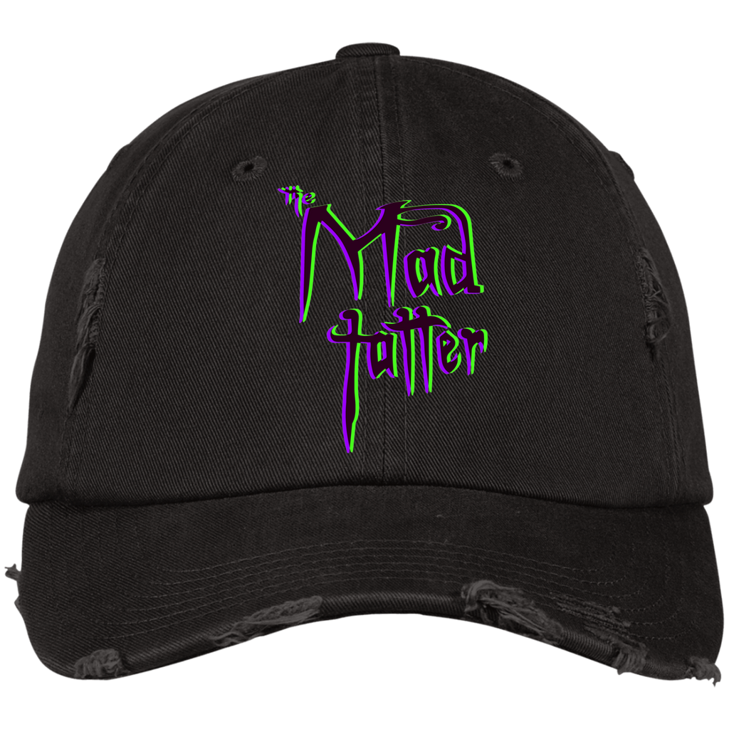 Mad Tatter 3D Logo Distressed Dad Cap - Purple/Green