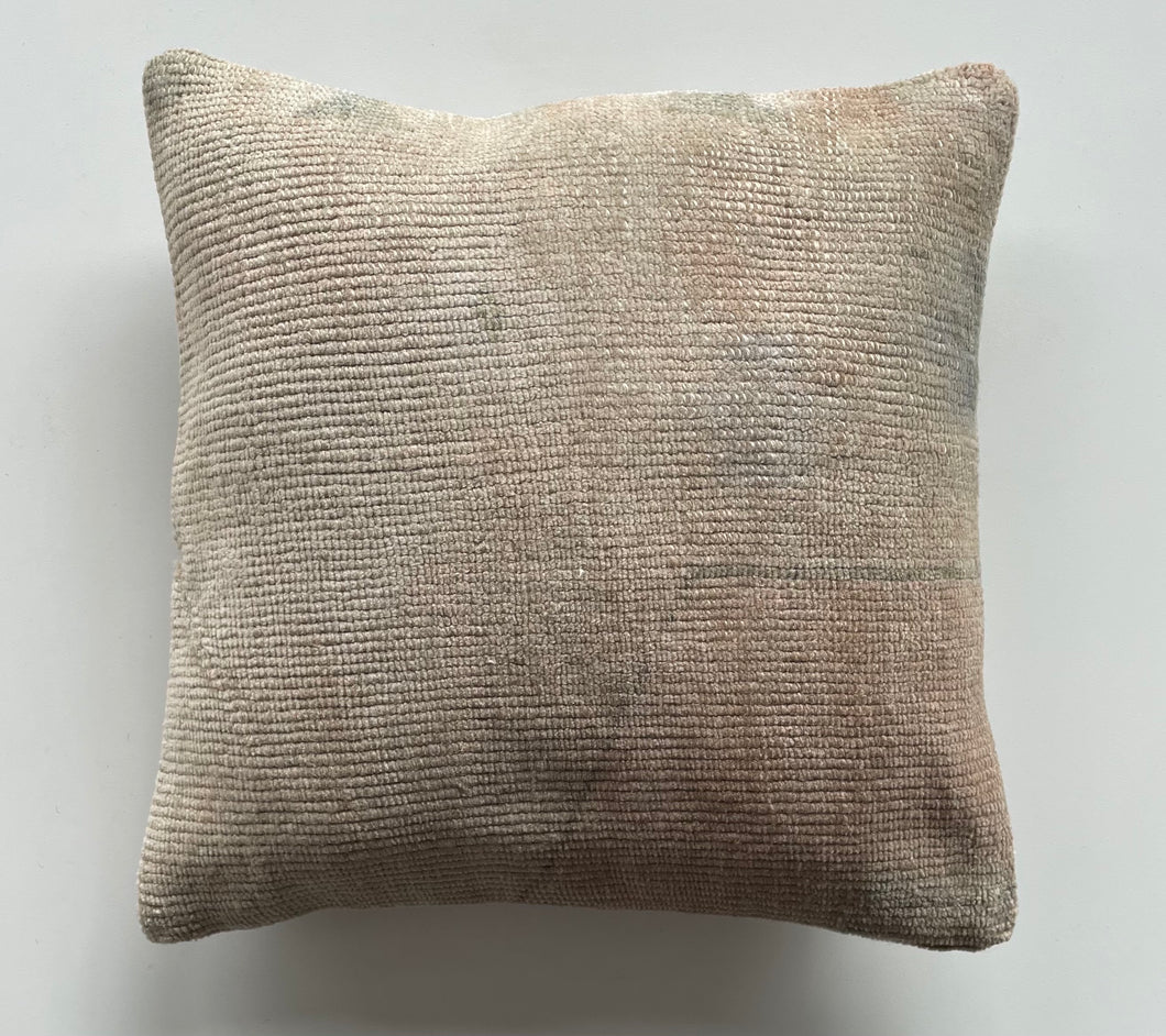 Beige/Hint of Coral Turkish Pillow 16