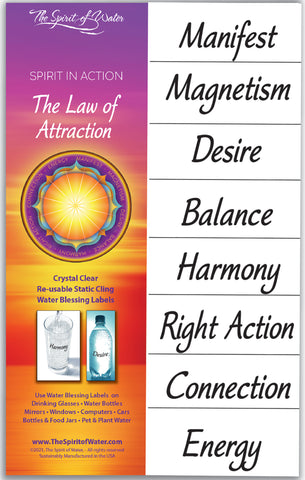Law of Attraction Water Blessing Labels