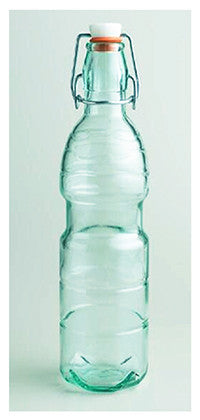 Aqua Glass Water Bottle to Adorn
