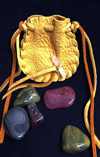Mojo Pouch with Healing & Psychic Stones