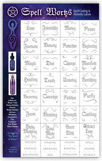 Spell Works Silver Potion Labels