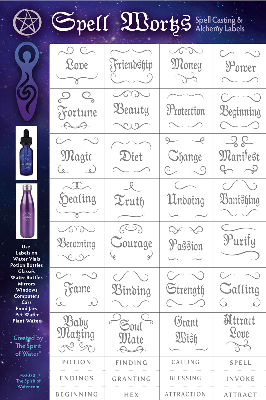 Spell Works Potion Labels