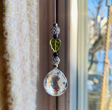 Load image into Gallery viewer, Peridot & Purple Chaorite Small Rainbow Light Catcher