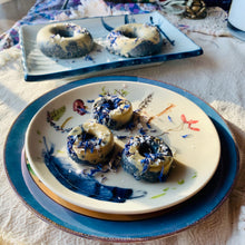 Load image into Gallery viewer, Mini Blueberry Lavender White Chocolate Dream Donuts
