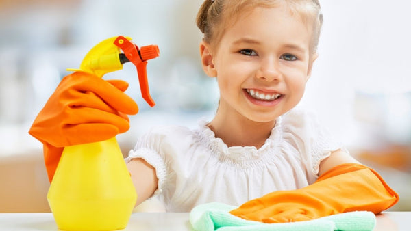 have your child help out with cleaning guinea pig and small pet cages