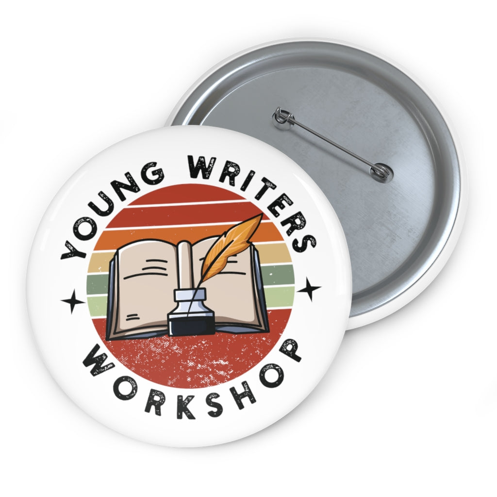 YWW Round Books Logo Pin