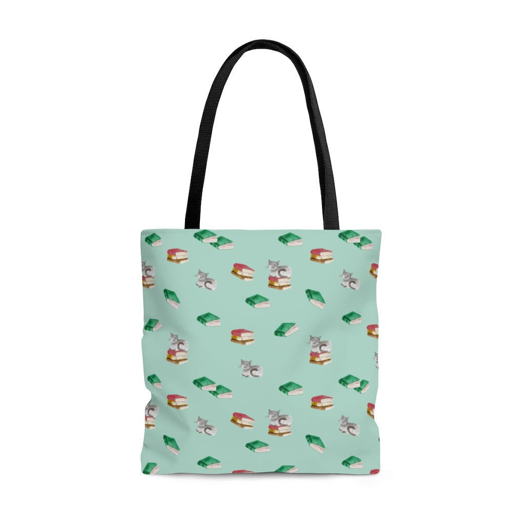 Cats & Books Tote Bag