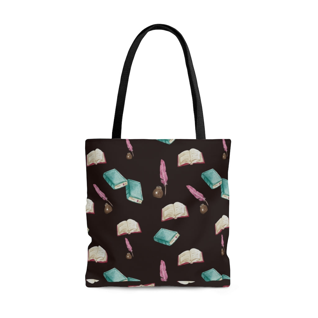 Quills & Books Tote Bag