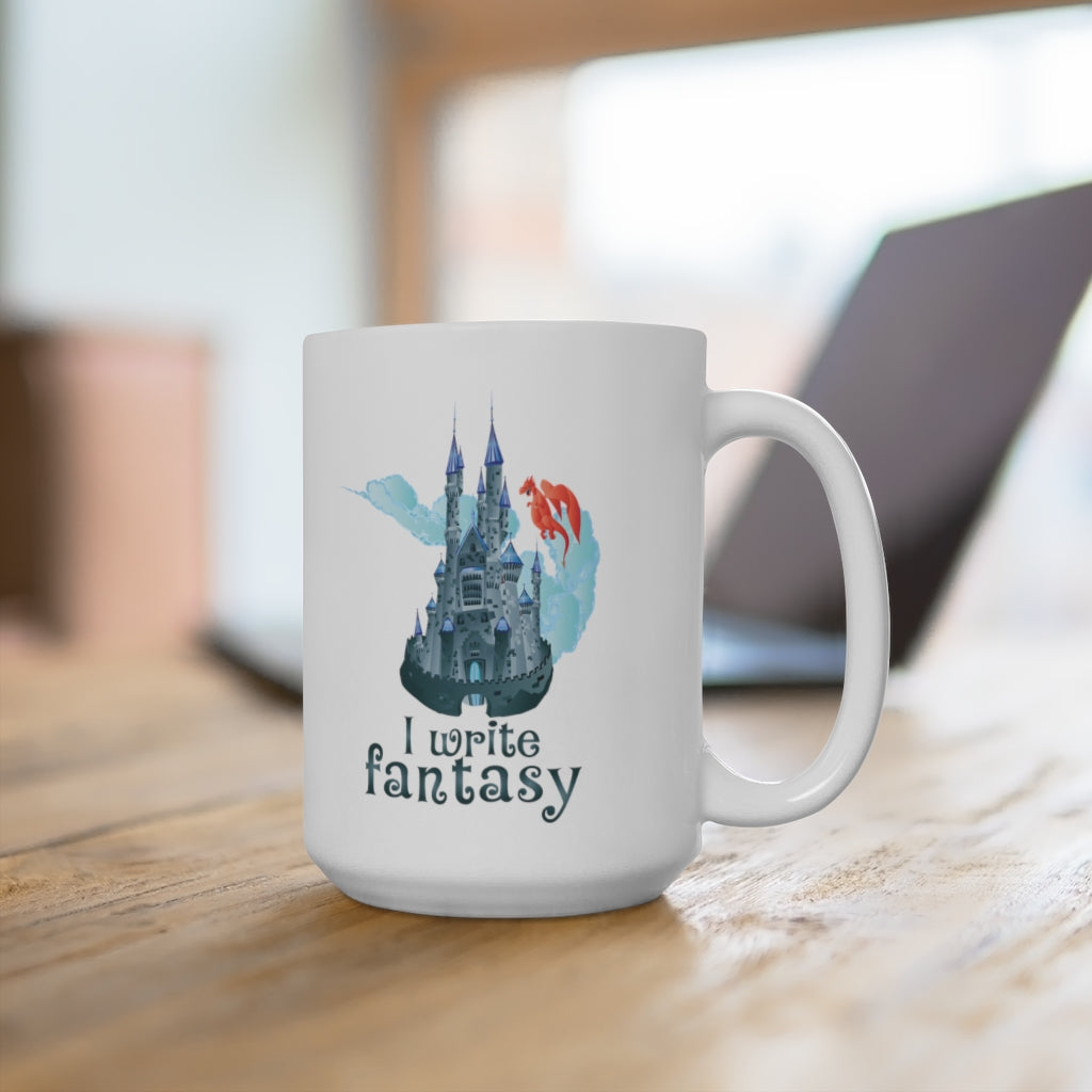 I Write Fantasy (Blue Castle) Ceramic Mug