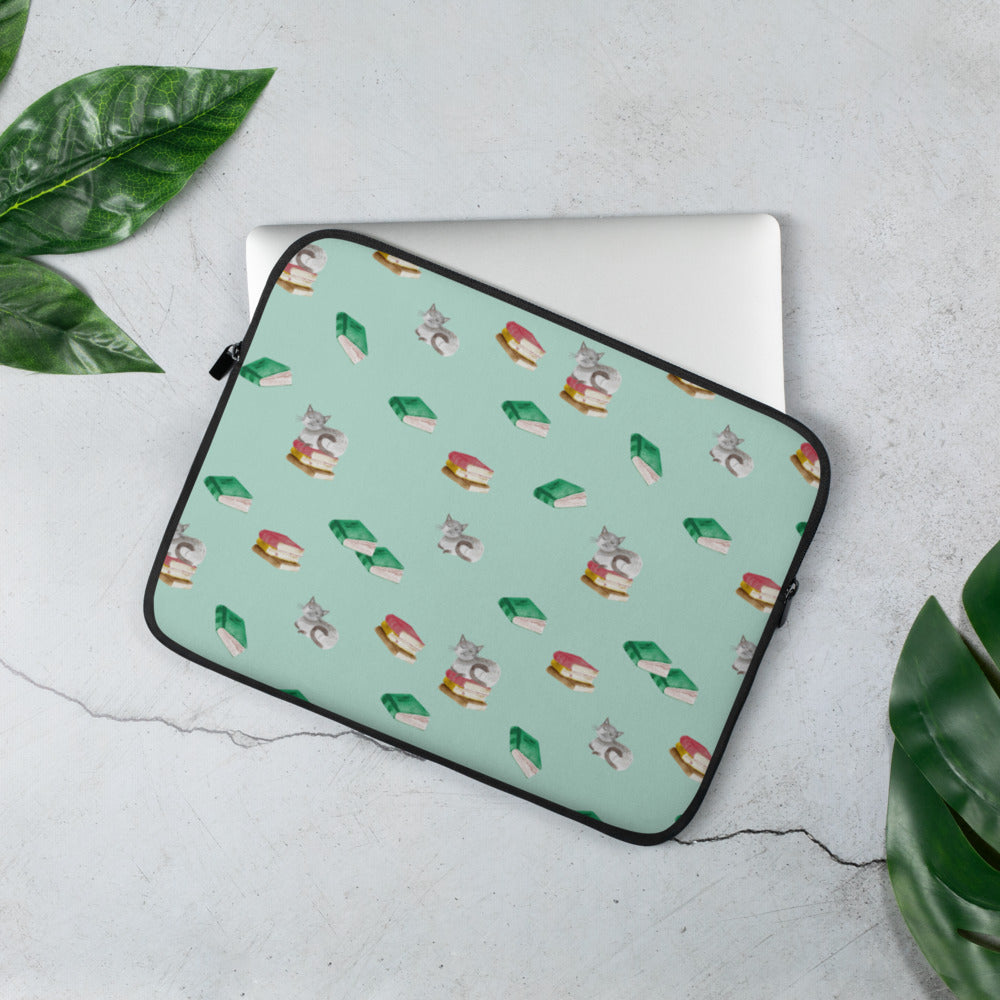 Cats & Books Laptop Sleeve