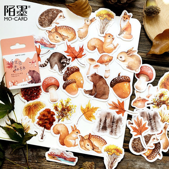 Japanese Fall Forest Stationary Sticker Set (46pc)