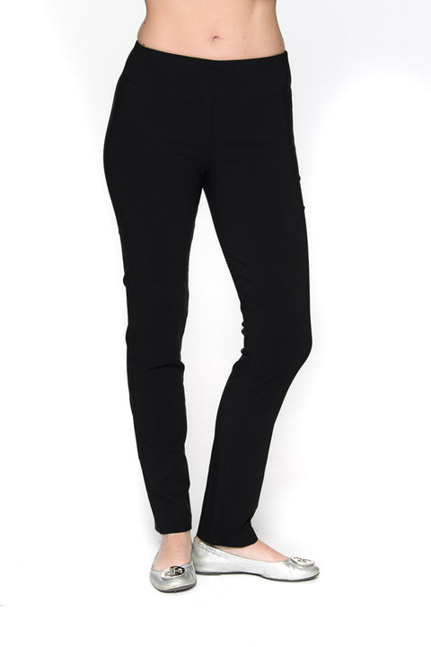 Black Pull On Pants with Tummy Tuck