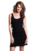 Black Ruffle Tank Dress