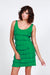 Grass Green Ruffle Tank Dress