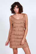 Latte Ruffle Tank Dress