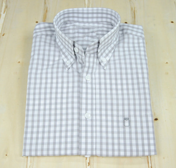 Ole Mason Jar - The Carolina Grey Gingham - Shirts - The American Gentleman - 1