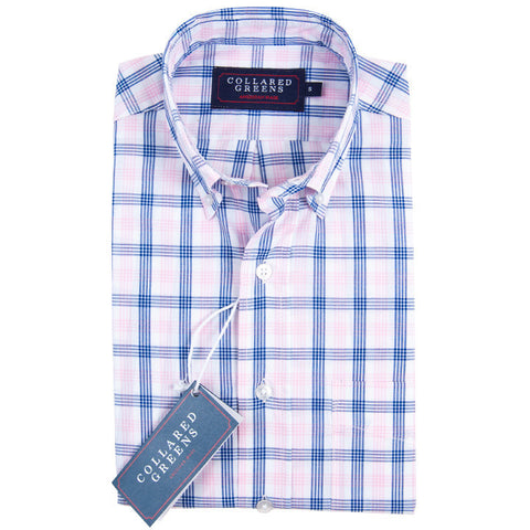 Collared Greens - The Mooreland Button Down - Navy/Pink/White - Shirts - The American Gentleman - 1
