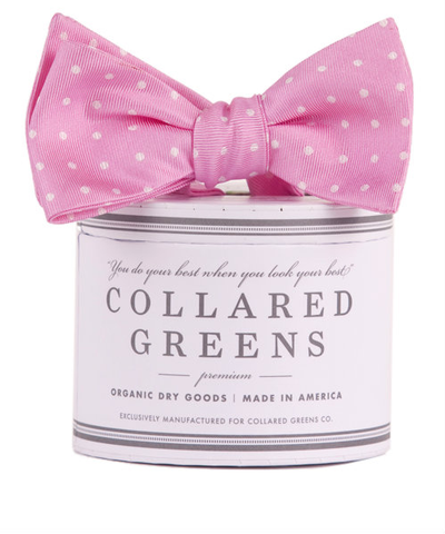 Collared Greens - Dots Bow Tie - Pink - Bow Tie - The American Gentleman - 1