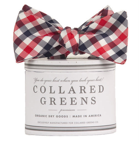 Collared Greens - USA Quad Bow Tie Red/White/Blue - Bow Tie - The American Gentleman - 1