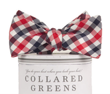 Collared Greens - USA Quad Bow Tie Red/White/Blue - Bow Tie - The American Gentleman - 2