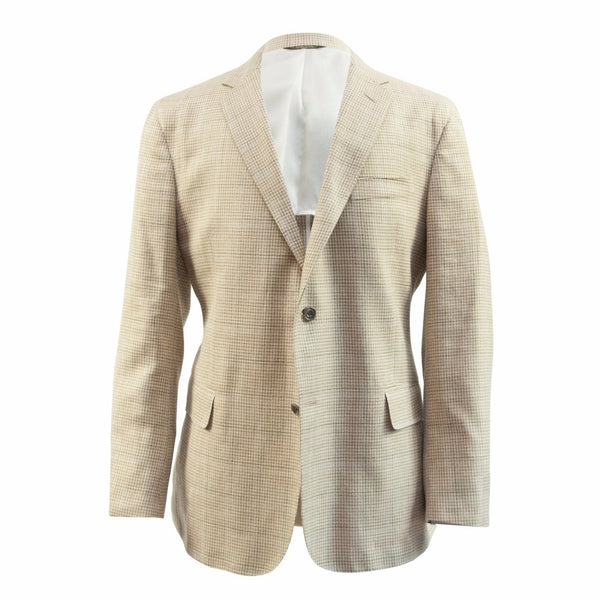 The Tan Houndstooth Linen Sport Coat