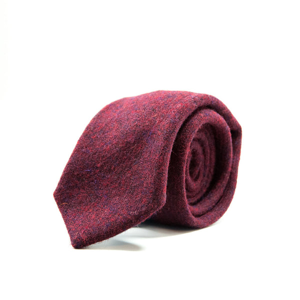 Ole Mason Jar - The Burgundy Harris Tweed - Ties - The American Gentleman - 1