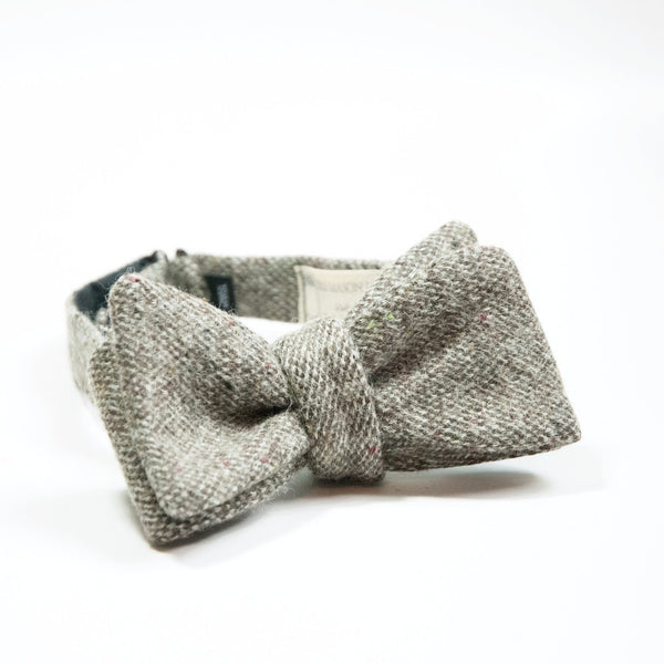 Ole Mason Jar - The Grey Textured Wool Bowtie - Bow Tie - The American Gentleman